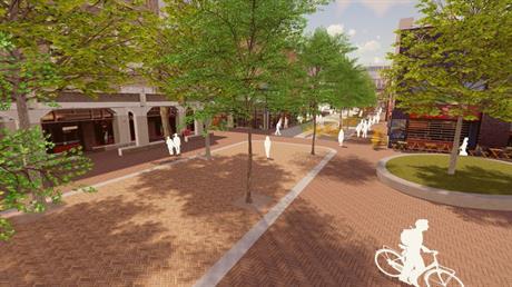 ontwerptekening stadshart