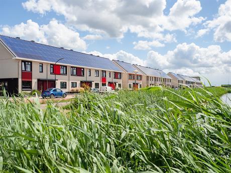 Rij huizen in Warande Lelystad