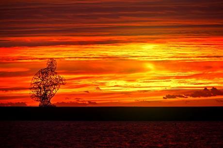 Exposure bij zonsondergang