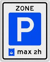 Parkeerbord blauwe zone