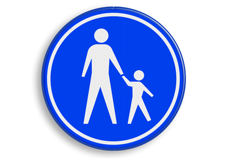 Verkeersbord voetgangersgebied
