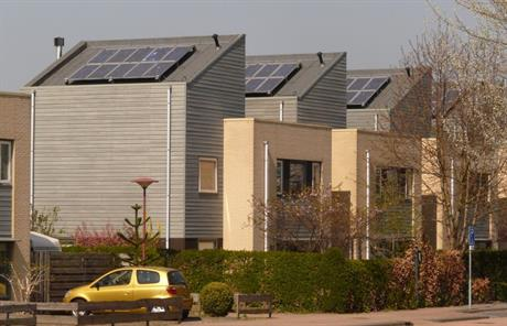 Zonnepanelen op huizen