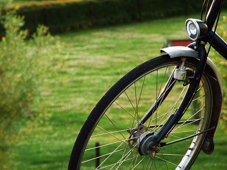 Voorwiel van fiets
