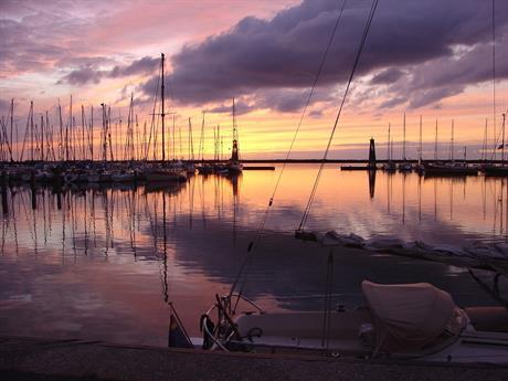 Jachthaven aan de Lelystadse kust