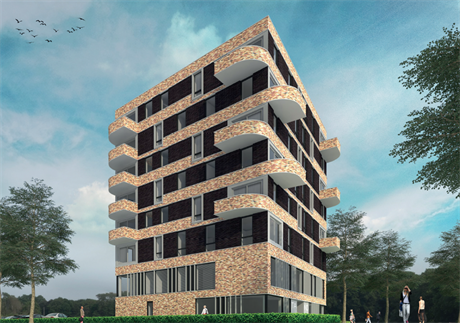 Impressie van het wooncomplex van IsaRo Vastgoed b.v.